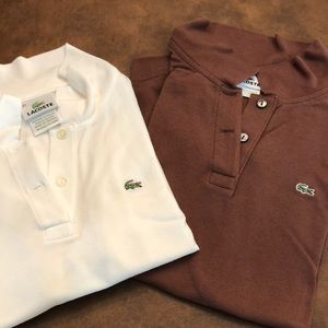 Women's Lacoste shirts. 2 for the price of 1!